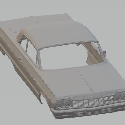 Download 3D printer designs Impala 1964 Printable Body Car, hora80