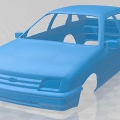 Ford Sierra 5 Door 1984-1.jpg Download STL file Sierra 5 Door 1984 Printable Body Car • 3D printing model, hora80
