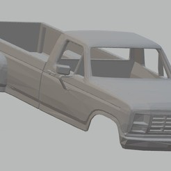 Download 3D printing templates F350 Printable Body Truck, hora80