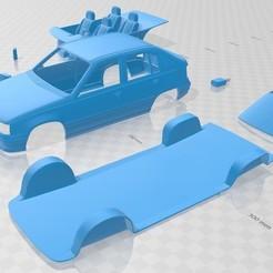 Imprimir en 3D Opel Kadett 1991 Printable Car, hora80