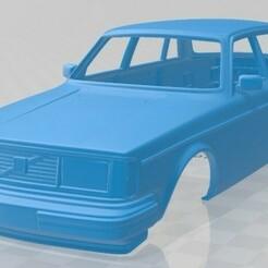 Volvo 244 1979-1.jpg Download STL file Volvo 244 1979 Printable Body Car • 3D printer template, hora80