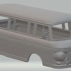Download STL files Barkas B 1000 Printable Body Van, hora80