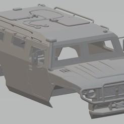 Descargar STL GAZ Tigr Printable Body Car, hora80