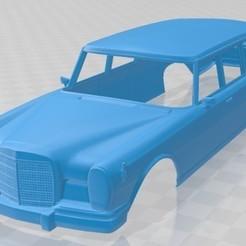 foto 1.jpg Télécharger fichier STL Mercedes Benz 600 W100 1964 Carrosserie imprimable • Objet pour imprimante 3D, hora80