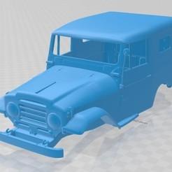 foto 1.jpg Télécharger fichier STL Toyota Land Cruiser J20 1958 Voiture à carrosserie imprimable • Design pour impression 3D, hora80