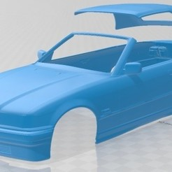 Download 3D printing models Series 3 E36 Cabrio 1994 Printable Body Car, hora80