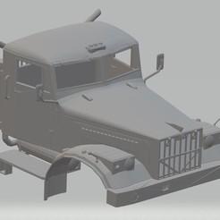 Download STL files Kraz 255 Kipper Printable Cab Truck, hora80
