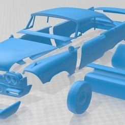 Download 3D printing designs Plymouth Fury Christine 1958 Printable Car, hora80