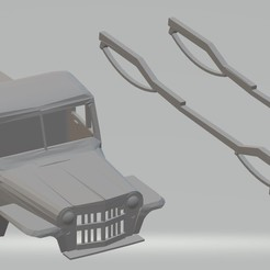Download 3D printer designs Jeep Willys Pick Up 1946 Printable Body Car, hora80