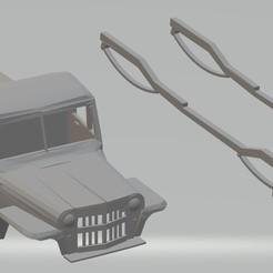 foto 1.jpg Télécharger fichier STL Jeep Willys Pick Up 1946 Automobile carrosserie imprimable • Objet pour imprimante 3D, hora80