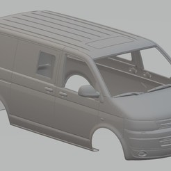 Download 3D printer files Volkswagen Transporter T5 Printable Body Van, hora80