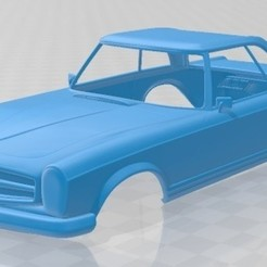 foto 1.jpg Download STL file Mercedes Benz SL 1963 Printable Body Car • Template to 3D print, hora80