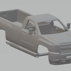 Descargar archivo 3D Silverado 2011 Printable Body Truck, hora80