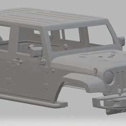 Descargar archivos 3D Jeep Rubicon Printable Body Car, hora80