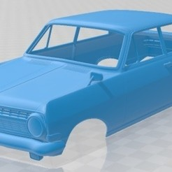 Download 3D printer designs Opel Rekord 1963 Printable Body Car, hora80
