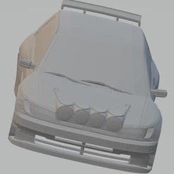 Descargar archivos 3D Peugeot 306 Rally Printable Body Car, with and without windows, hora80