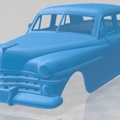 Chrysler New Yorker sedan 1950-1.jpg Download STL file Chrysler New Yorker Sedan 1950 Printable Body Car • 3D print design, hora80