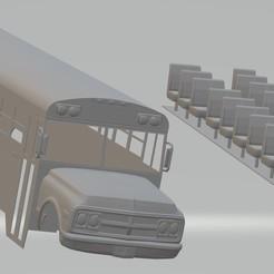 Descargar archivo 3D BlueBird School Bus 1972 Printable, hora80