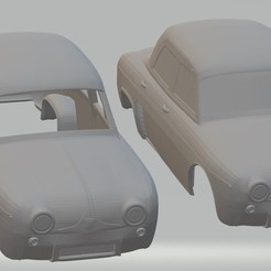 Descargar modelo 3D Renault Dauphine Printable Body Car, hora80