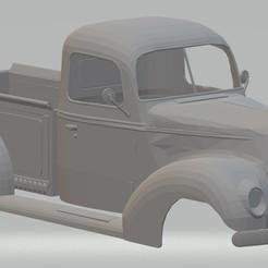 Descargar archivos STL F 100 Supernats 1938-1940 Printable Body Truck, hora80