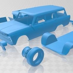 Descargar archivo 3D Fiat 2300 Familiare 1963 Printable Car, hora80