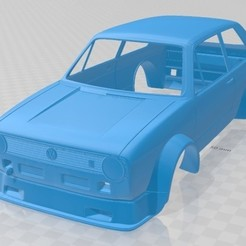 Descargar archivos STL Volkswagen Golf MK1 Race Cup Printable Body Car, hora80