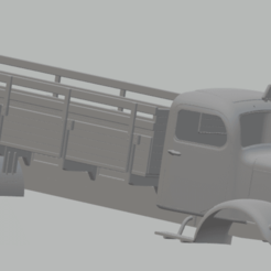 foto 1.png Download STL file Mercedes L5000 Printable Truck • 3D printing design, hora80