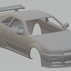 Impresiones 3D Nissan Skyline GTR Printable Body Car, hora80