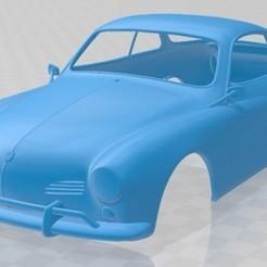 Volkswagen Karmann Ghia 1955 - 1.jpg Télécharger fichier STL Volkswagen Karmann Ghia 1955 Carrosserie imprimable • Plan imprimable en 3D, hora80