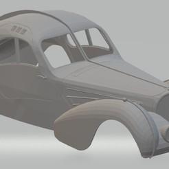 Impresiones 3D Bugatti Type 57 SC 1937 Printable Body Car, hora80