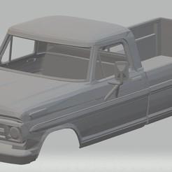 Download 3D printer templates F 100 - 1969 Printable Body Truck, hora80