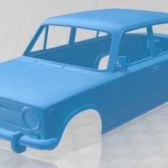 Download 3D printer designs Fiat 124 1972 Printable Body Car, hora80