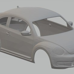 foto 1.jpg Download STL file Volkswagen Beetle Turbo 2012 Printable Body Car • 3D printable design, hora80