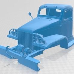 foto 1.jpg Télécharger fichier STL CCKW 353 Camion à cabine imprimable • Modèle pour imprimante 3D, hora80