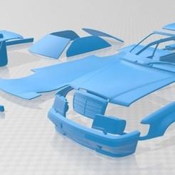 Descargar modelos 3D Mercedes Benz E Class AMG 1988 Printable Car, hora80