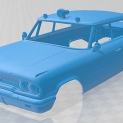 foto 1.jpg Télécharger fichier STL Galaxie 500 Police 1963 Voiture à carrosserie imprimable • Design pour impression 3D, hora80