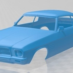 foto 1.jpg Download STL file Holden Monaro Coupe GTS 350 1971 Printable Body Car • 3D printer template, hora80