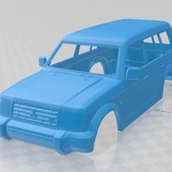 foto 1.jpg Télécharger fichier STL Wagon Mitsubishi Pajero Montero 1991 Carrosserie imprimable • Plan imprimable en 3D, hora80