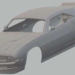 Descargar modelos 3D Dodge Challenger 1970 Printable Body Car, hora80