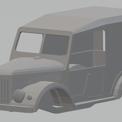 foto 1.jpg Download STL file GAZ 69 Printable Body Truck • 3D printable template, hora80