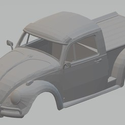 Descargar STL Volkswagen Beetle Pick Up Printable Body Car, hora80