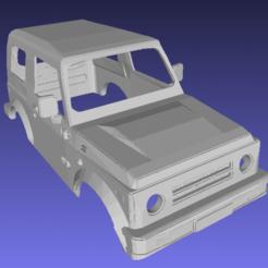 foto 100.png Download STL file Suzuki Samurai SJ-410 Printable Body Car • Design to 3D print, hora80