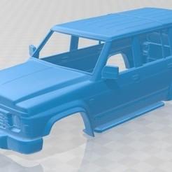 Impresiones 3D Nissan Patrol Y60 5 Doors 1987 Printable Body Car, hora80