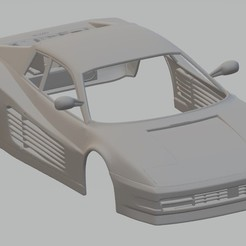Download 3D printer designs Ferrari Testarossa 1984 Printable Body Car, hora80