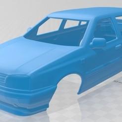 foto 1.jpg Télécharger fichier STL Volkswagen Golf 1993 Carrosserie imprimable • Modèle à imprimer en 3D, hora80