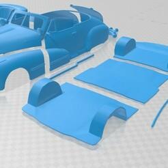Pontiac Torpedo Eight Deluxe Convertible 1948 - Separado-1.jpg Download STL file Torpedo Eight Deluxe Convertible 1948 Printable Car • 3D printing design, hora80