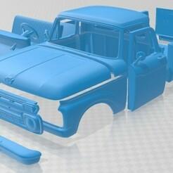 Ford F 100 1966 - Separado-1.jpg Télécharger fichier STL F 100 1966 Voiture imprimable • Objet pour imprimante 3D, hora80