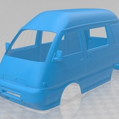 Download 3D printing models Piaggio Porter Printable Body Van, hora80