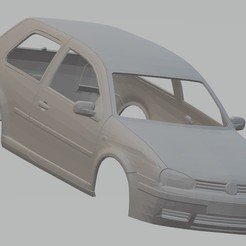 foto 1.jpg Download STL file Volkswagen Golf MK4 Printable Body Car • 3D printable object, hora80