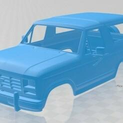 Ford Bronco 1982-1.jpg Télécharger fichier STL Carrosserie imprimable de la Bronco 1982 • Modèle pour imprimante 3D, hora80